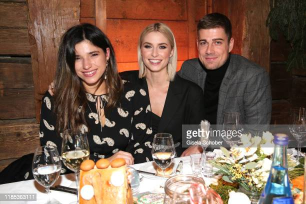 Yana Gercke, Lena Gercke and her boyfriend Dustin Schoene at the Lena Gercke x ABOUT YOU Christmas Dinner and Party at Hotel Stanglwirt on November...