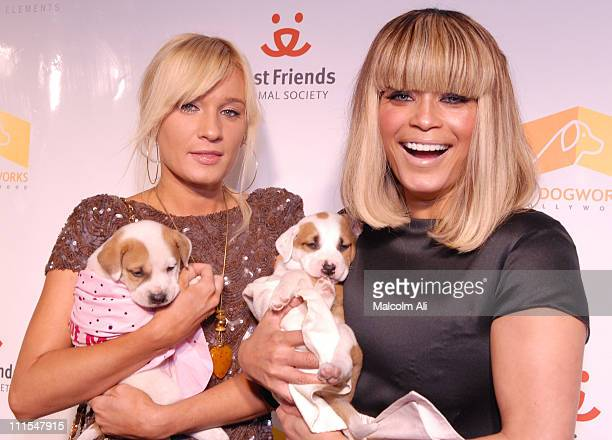 Yana K and Blu Cantrell during LA Dogworks And CRYSTALLIZED Team Up To Present Crystal Canine at LA Dogworks in Los Angeles, California, United...