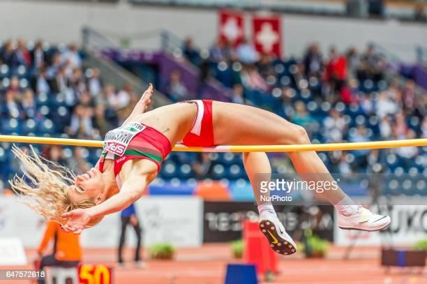 Yana MaksimavaBelarus at high jump under Pentathlon for women at European athletics indoor championships in Belgrade on March 3 2017