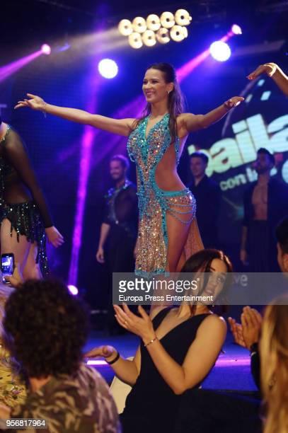 Yana Olina attends 'Bailando Con Las Estrellas' TVE photocall on May 9 2018 in Madrid Spain