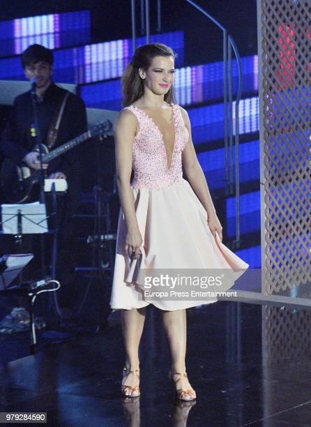 Yana Olina during 'Bailando con las estrellas' TVE programme on June 19 2018 in Barcelona Spain