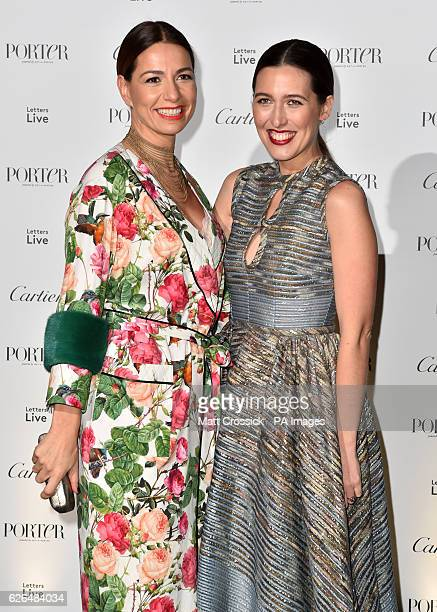 Yana Peel and Emilia Wickstead attending the Letters Live Black Tie Gala Dinner at the VA London PRESS ASSOCIATION Photo Picture date Tuesday...
