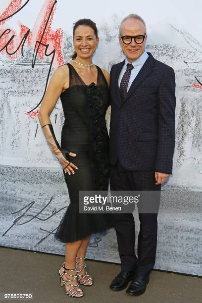 Yana Peel and HansUlrich Obrist attend the Serpentine Summper Party 2018 at The Serpentine Gallery on June 19 2018 in London England