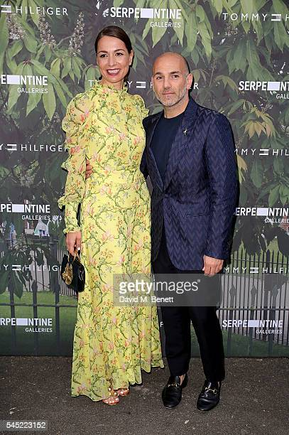 Yana Peel and Jason Basmajian attend The Serpentine Summer Party CoHosted By Tommy Hilfiger at The Serpentine Gallery on July 6 2016 in London England