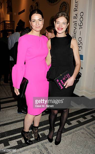 Yana Peel and Natalia Vodianova attend the VA Design Fund Gala at The VA on March 13 2012 in London England