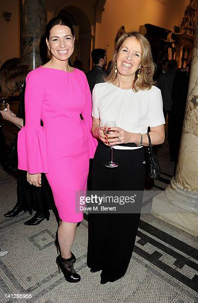 Yana Peel and Veronica Wadley attend the VA Design Fund Gala at The VA on March 13 2012 in London England