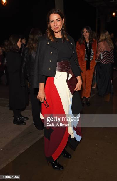 Yana Peel attends the Erdem catwalk show during London Fashion Week at The Old Selfridges Hotel on September 18 2017 in London England