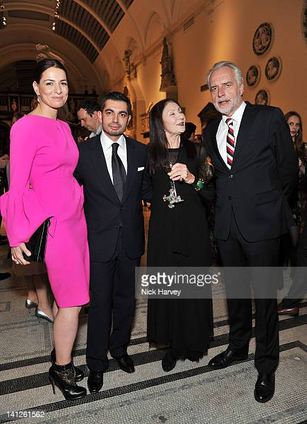 Yana Peel Francis Sultana Pauline Karpidas and Martin Roth attend the Design Fund Gala in aid of Victoria and Albert Museum at The VA on March 13...