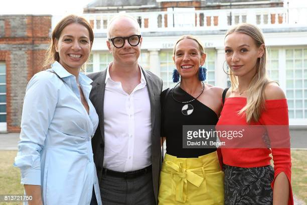 Yana Peel Hans Ulrich Obrist Tiphaine de Lussy and Agathe Chapman attend the COS celebration of The Serpentine Parks Nights 2017 at The Serpentine...