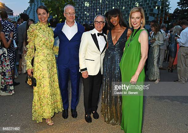 Yana Peel HansUlrich Obrist Tommy Hilfiger Naomi Campbell and Julia PeytonJones attend The Serpentine Summer Party cohosted by Tommy Hilfiger on July...