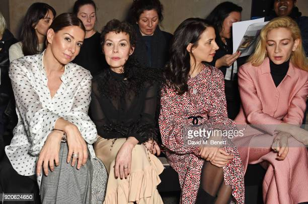 Yana Peel Helen McCrory Caroline Sieber and Sabine Getty attend the Christopher Kane show during London Fashion Week February 2018 at Tate Britian on...