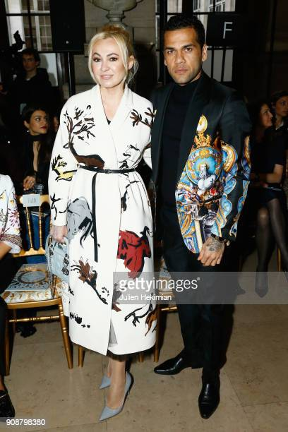 Yana Roukovskaya and Dani Alvez Faz attend the Georges Hobeika Haute Couture Spring Summer 2018 show as part of Paris Fashion Week on January 22 2018...