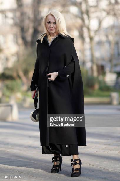 Yana Rudkovs attends the Ulyana Sergeenko Spring Summer 2019 show as part of Paris Fashion Week at Theatre Marigny on January 21 2019 in Paris France