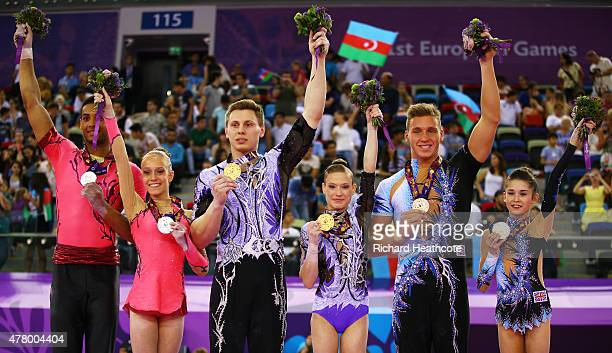 Yana Vastavel and Solano Cassamajor of Belgium Marina Chernova and Georgy Pataraya of Russia and Hannah Baughn and Ryan Bartlett of Great Britain...