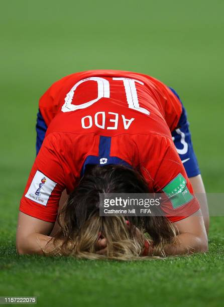 Yanara Aedo of Chile looks dejected following the 2019 FIFA Women's World Cup France group F match between Thailand and Chile at Roazhon Park on June...