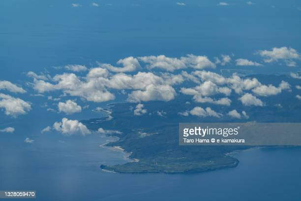 yanbaru national park in okinawa of japan aerial view from airplane - coral sea stock pictures, royalty-free photos & images