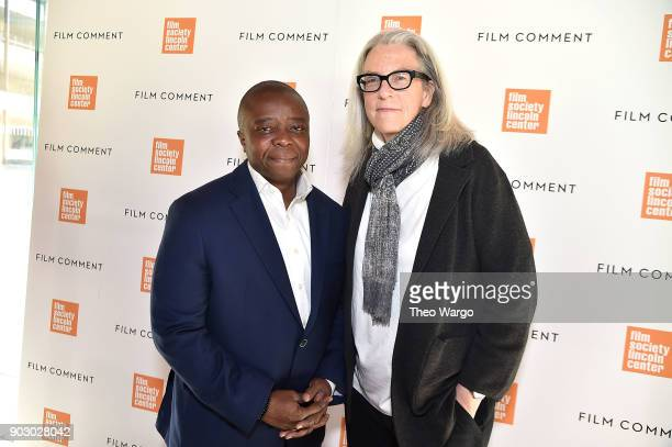 Yance Ford and Joslyn Barnes attend the 2018 Film Society Of Lincoln Center Film Comment Luncheon at Lincoln Ristorante on January 9 2018 in New York...