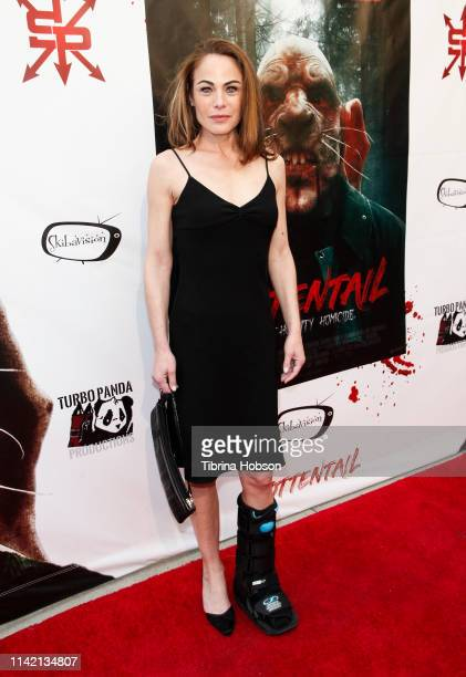 Yancy Butler attends the Los Angeles premiere of 'Rottentail' at Raleigh Studios Chaplin Theatre on April 11 2019 in Los Angeles California