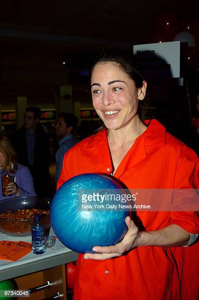 Yancy Butler takes part in the Second Stage Theatre's 18th Annual AllStar Bowling Classic at Leisure Time Bowling Lanes in the Port Authority Bus...