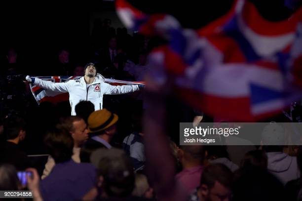 Yancy Medeiros enters the arena prior to facing Donald Cerrone in their welterweight bout during the UFC Fight Night event at Frank Erwin Center on...