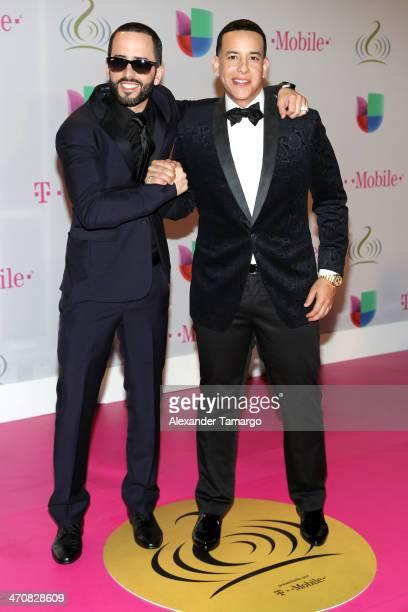 Yandel and Daddy Yankee attend Premio Lo Nuestro a la Musica Latina 2014 at American Airlines Arena on February 20 2014 in Miami Florida