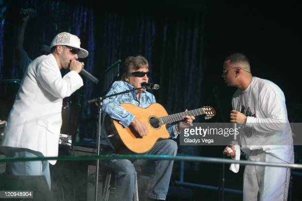 Yandel Jose Feliciano and Wisin during Wisin Yandel in Concert at Coliseo de Puerto Rico in San Juan March 17 2006 at Coliseo de Puerto Rico in San...