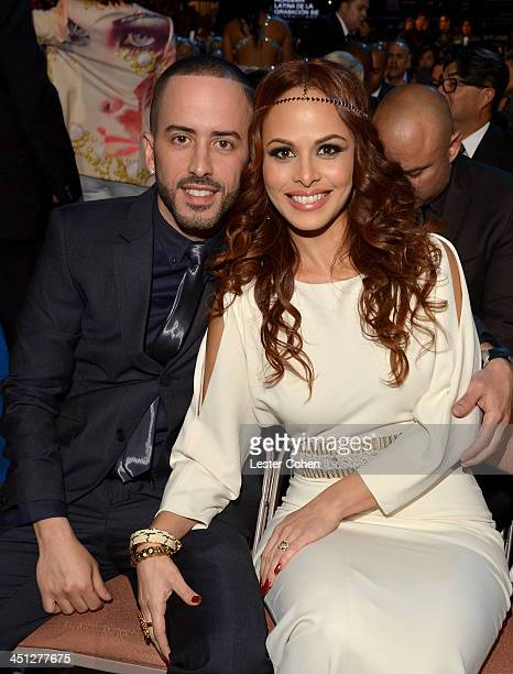 Yandel of Wisin Y Yandel and his wife Edneris Espada Figueroa attend The 14th Annual Latin GRAMMY Awards at the Mandalay Bay Events Center on...