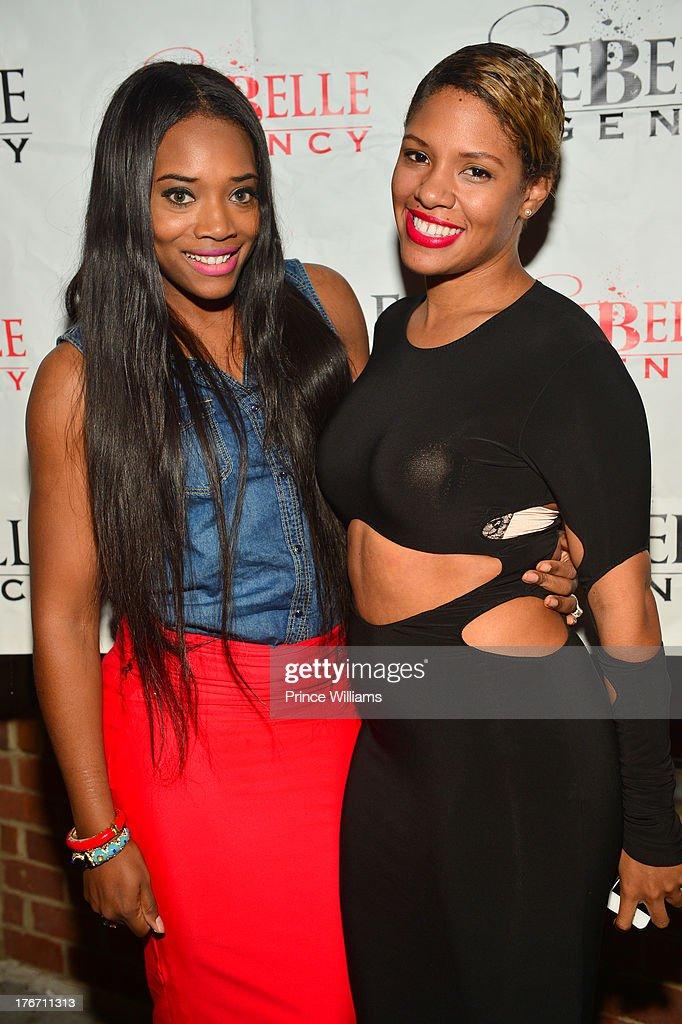 Yandi Smith and Dariana Colon-Bibb attend the Host Rebelle Agency PR Launch party at La Mongerie on August 16, 2013 in Atlanta, Georgia.
