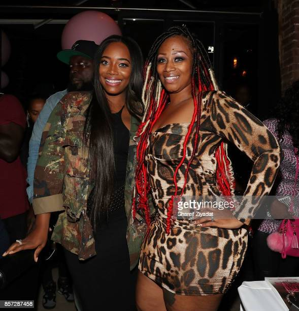 Yandy Smith and Sunshinse SmithWilliams attends The Pink Panther Clique book release party hosted by Yandy Smith at Manhattan Brew Vine on October 3...