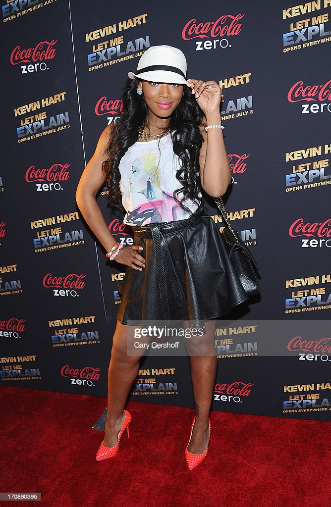 Yandy Smith attends 'Kevin Hart:Let Me Explain' New York Premiere at Regal Cinemas Union Square on June 19, 2013 in New York City.