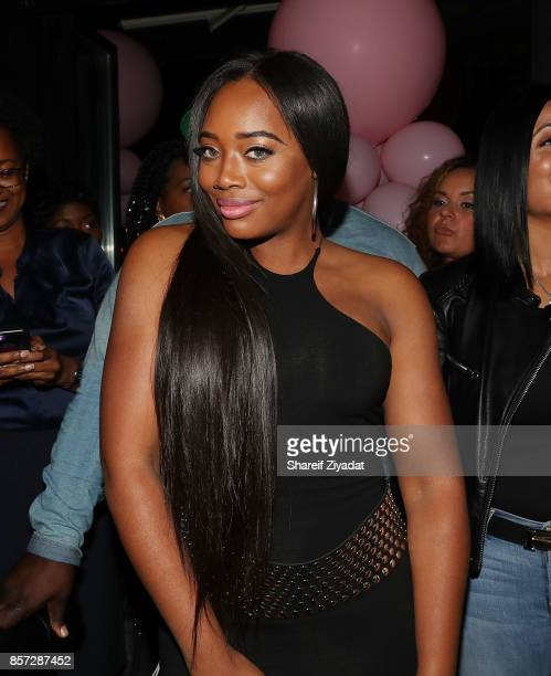 Yandy Smith attends The Pink Panther Clique book release party hosted by Yandy Smith at Manhattan Brew Vine on October 3 2017 in New York City