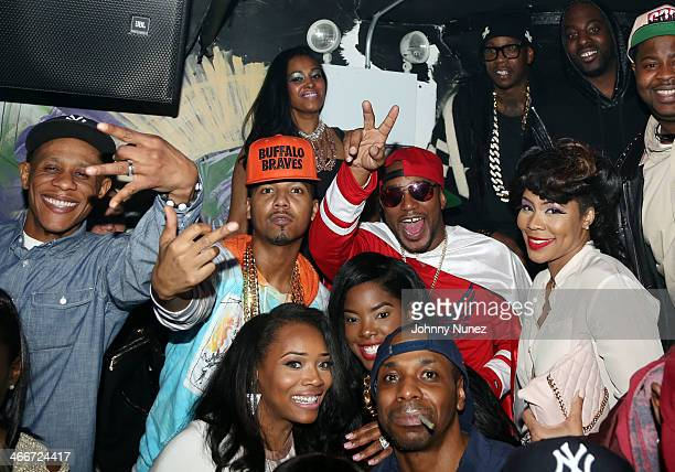 Yandy Smith Juelz Santana Cam'ron 2 Chainz and Deelishis attend Camron's KillaBowl at WIP on February 2 2014 in New York City