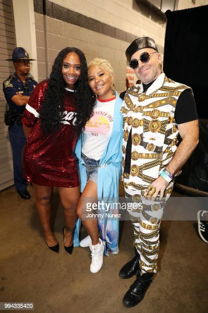 Yandy Smith Misa Hylton and Damon Peruzzi attend the 2018 Essence Festival Day 3 on July 8 2018 in New Orleans Louisiana