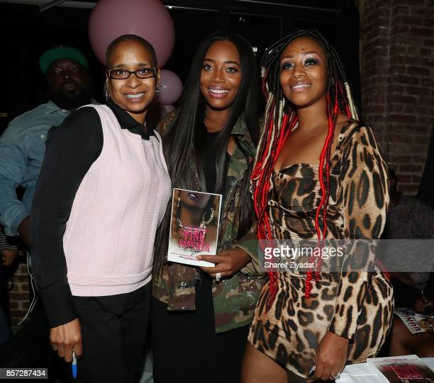Yandy Smith Wahida Clark and Sunshine SmithWilliams attends The Pink Panther Clique book release party hosted by Yandy Smith at Manhattan Brew Vine...