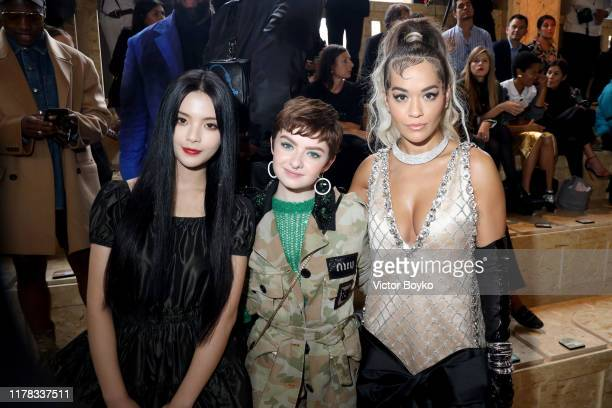 Yang Chaoyue Lachlan Watson and Rita Ora attend the Miu Miu Womenswear Spring/Summer 2020 show as part of Paris Fashion Week on October 01 2019 in...