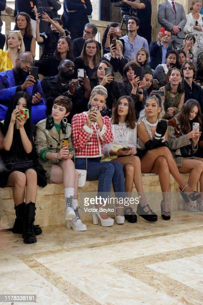 Yang Chaoyue Lachlan Watson Pixie Geldof Alexa Chung Rita Ora and Raffey Cassidy attend the Miu Miu Womenswear Spring/Summer 2020 show as part of...
