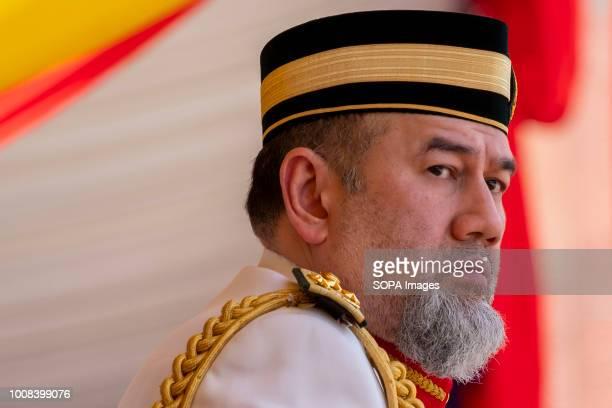 Yang di-Pertuan Agong Sultan Muhammad V seen during the National Warriors Day celebrated on 31st July 2018 at Dataran Pahlawan, Putrajaya. Malaysia...