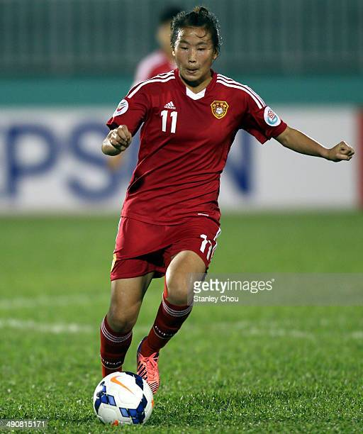 Yang Li of China in action during the AFC Women's Asian Cup Group B match between China and Thailand at Thong Nhat Stadium on May 15 2014 in Ho Chi...