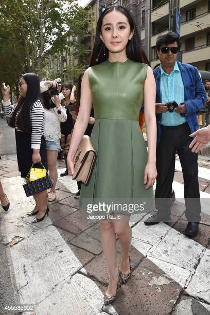 Yang Mi arrives at Gucci Fashion Show during Milan Fashion Week Womenswear Spring/Summer 2015 on September 17 2014 in Milan Italy