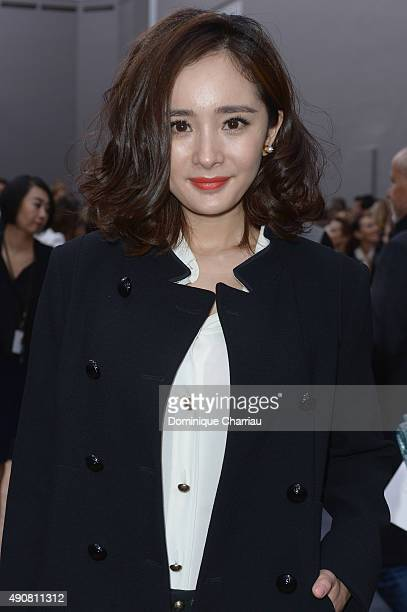 Yang Mi attends the Chloe show as part of the Paris Fashion Week Womenswear Spring/Summer 2016 on October 1 2015 in Paris France