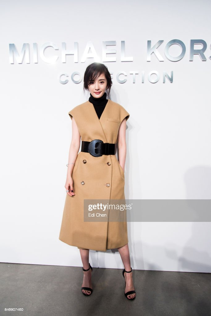 Yang Mi attends the Michael Kors runway show during New York Fashion Week at Spring Studios on September 13, 2017 in New York City.