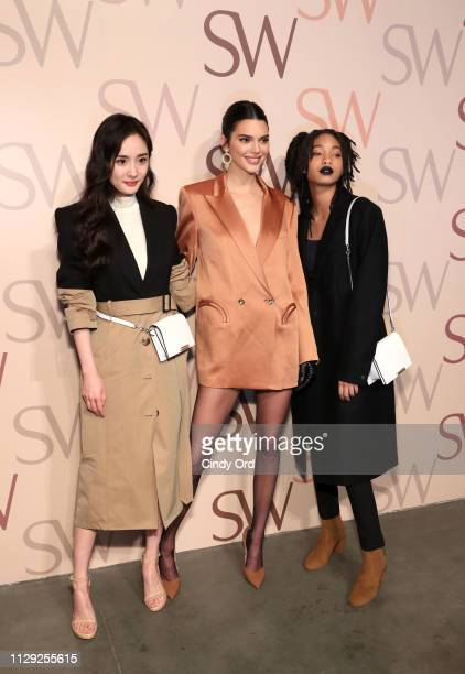 Yang Mi Kendall Jenner and Willow Smith attend Stuart Weitzman Spring Celebration 2019 on February 12 2019 in New York City