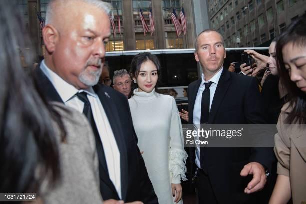 Yang Mi meets fans at the Michael Kors Rockefeller Center store on September 11 2018 in New York City