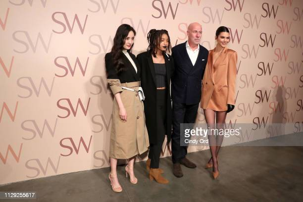 Yang Mi Willow Smith Stuart Weitzman CEO Eraldo Poletto and Kendall Jenner attend Stuart Weitzman Spring Celebration 2019 on February 12 2019 in New...