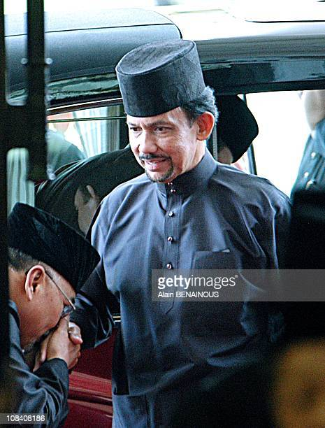Yang Mulia and Penigran Khairul Khalil during the Friday Mosque Ceremony at the Sultan Omar Ali Saifuddin Mosque in Brunei Darussalam on June 07 2007