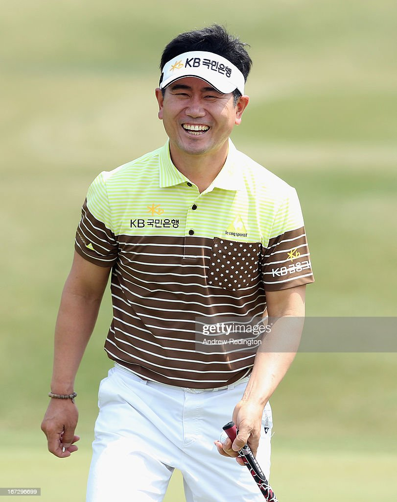 YE Yang of Korea in action during the Pro Am tournament prior to the start of the Ballantine's Championship at Blackstone Golf Club on April 24, 2013 in Icheon, South Korea.