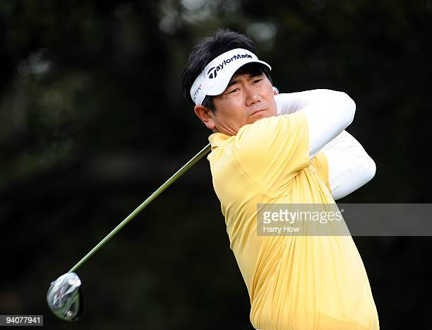 Yang of South Korea hits a tee shot on the sixth hole during the fourth round of the Chevron World Challenge at Sherwood Country Club on December 6,...