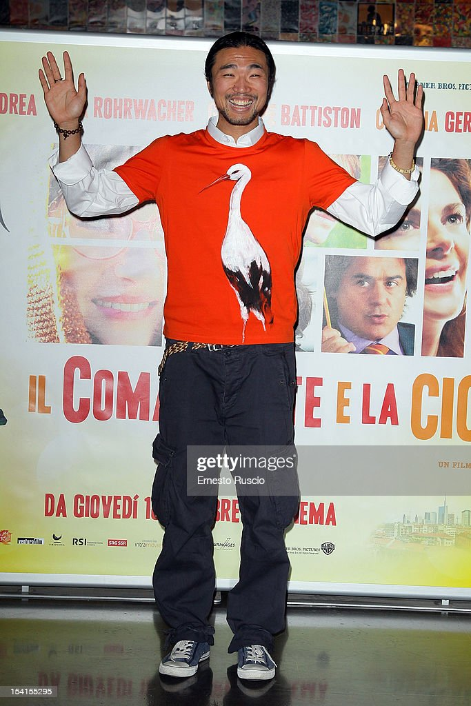 Yang Shi attends the 'Il Comandante e La Cicogna' photocall at the Space Moderno on October 15, 2012 in Rome, Italy.