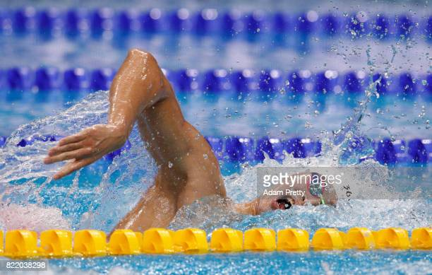 Yang Sun of China competes during the Men's 800m Freestyle Heats on day twelve of the Budapest 2017 FINA World Championships on July 25 2017 in...