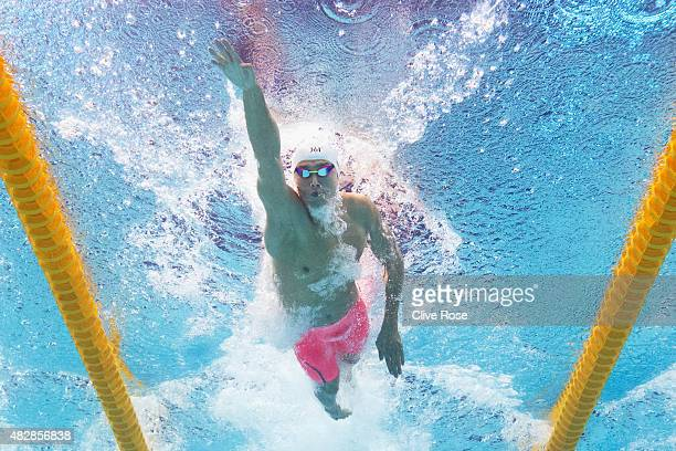 Yang Sun of China competes in the Men's 200m Freestyle Semi Final on day ten of the 16th FINA World Championships at the Kazan Arena on August 3 2015...